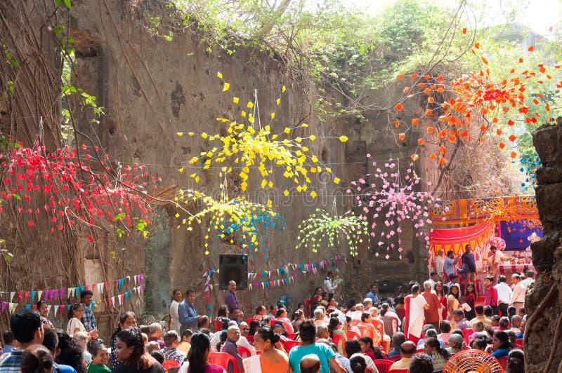 Massa em ru?nas de St John a igreja batista, Mumbai fotos de stock