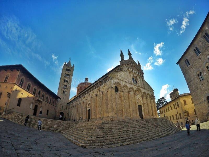 Massa Marittima Kathedrale stockbilder