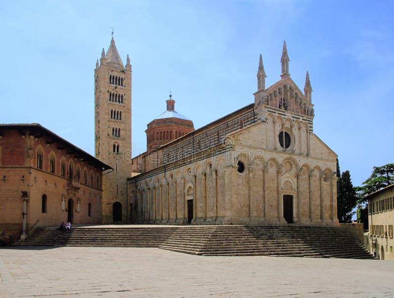 Massa Marittima Kathedrale stockfoto