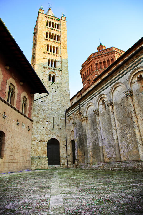 Massa Marittima Kathedrale. Toskana, Italien. lizenzfreie stockfotografie