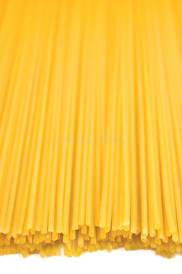 Massa tradicional do espaguete isolada imagem de stock royalty free