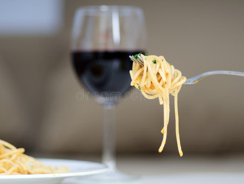 Massa um vinho fotografia de stock royalty free