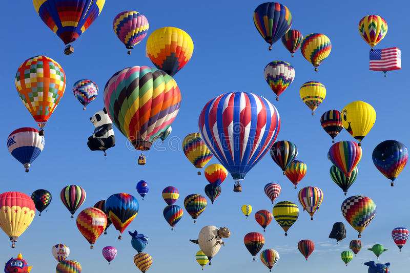 Massabeklimming - het Festival van New Jersey Ballooning stock foto