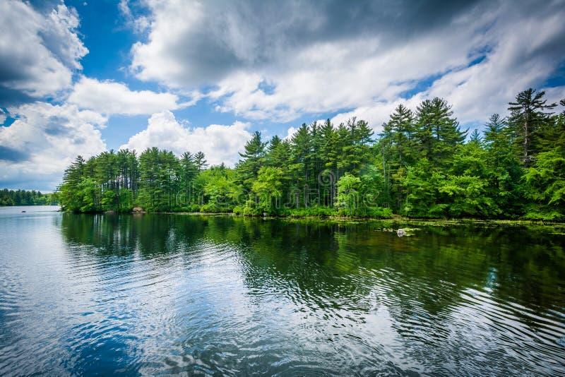 Massabesic Lake, in Manchester, New Hampshire. stock photos