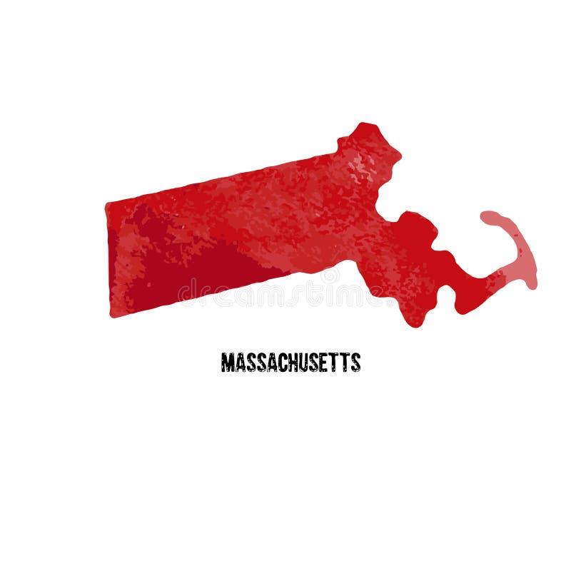 Massachusets Los Estados Unidos de América Ilustración del vector wat ilustración del vector