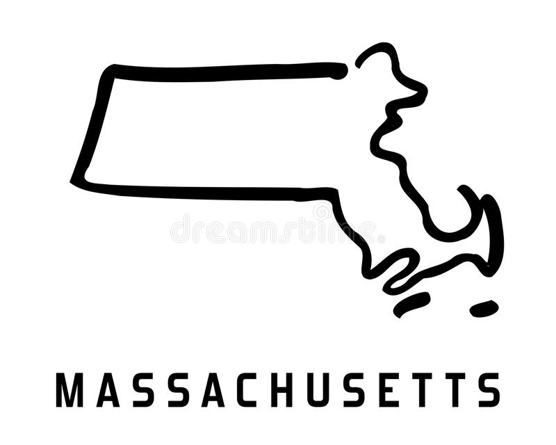 massachusetts ilustração stock