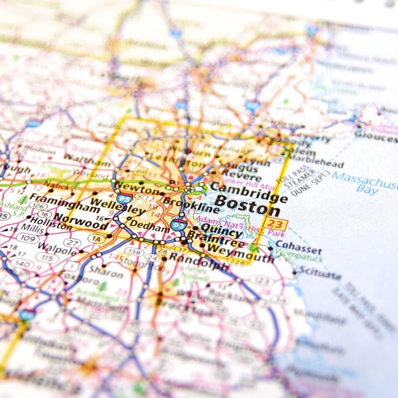 Massachusetts loppöversikt arkivbilder
