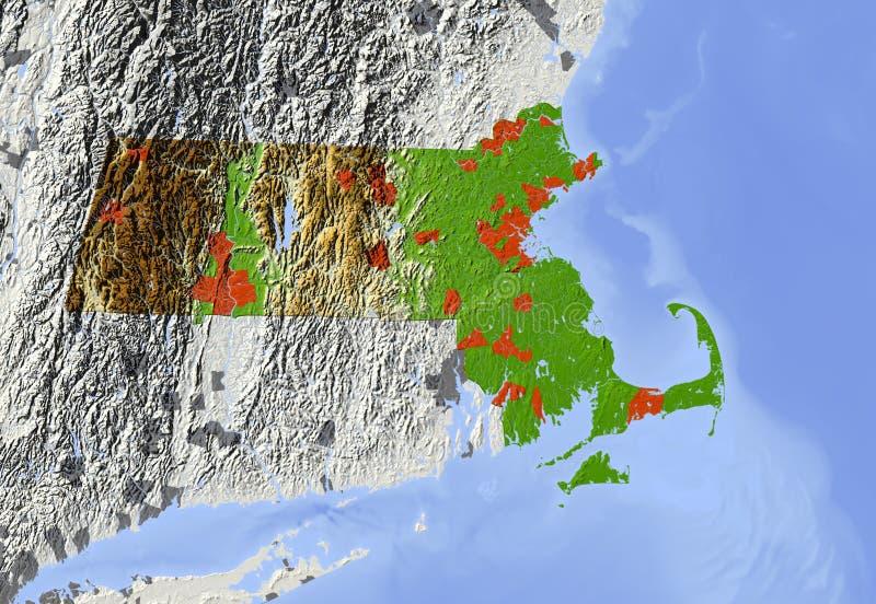 Massachusetts relief map stock illustration illustration of download massachusetts relief map stock illustration illustration of countries 5572132 gumiabroncs Images