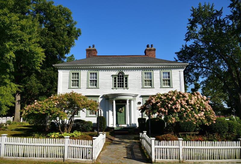 Massachusetts, South Hadley: Casa Daniel Stebbins 1795 foto de archivo libre de regalías