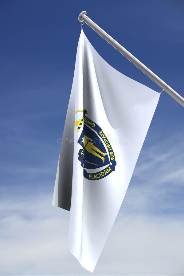 Massachusetts state flag stock image