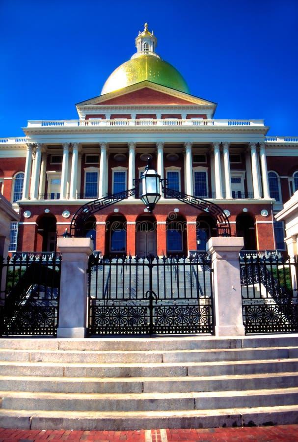 Massachusetts State House, Boston stock photo