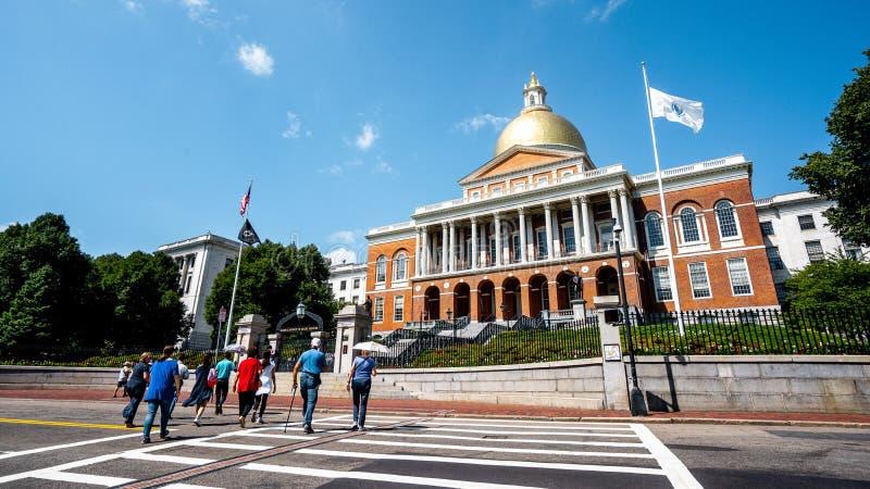 Massachusetts State House , o edifício clássico em Boston , Massachusetts , Estados Unidos da América fotos de stock royalty free