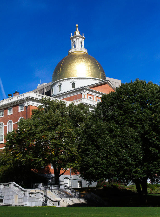 Massachusetts, Statehouse Golden Dome fotografía de archivo