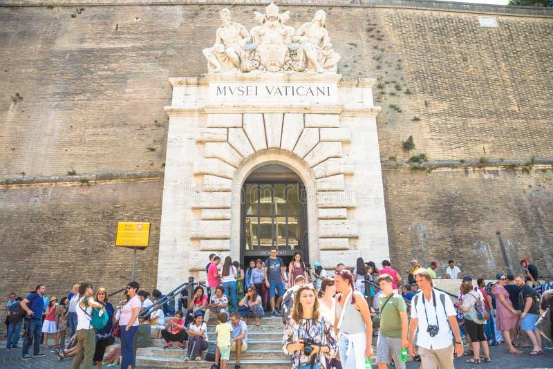 Massachussets-turismo al museo del Vaticano a Roma fotografia stock libera da diritti