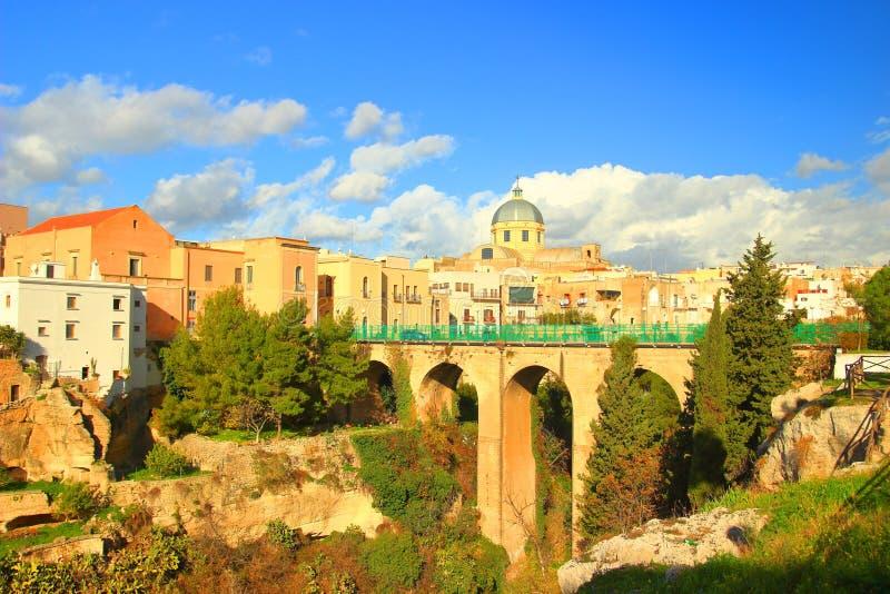 Massafra in Apulia, Italy. Massafra town in Apulia, Italy royalty free stock photo