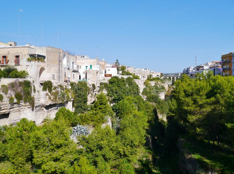 Massafra in Italy. View on Massafra in Taranto in the south of Italy royalty free stock images