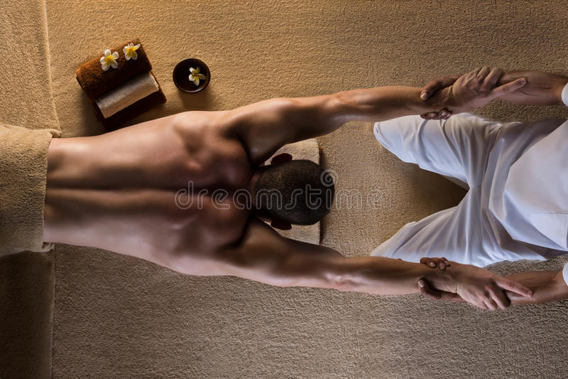 massage Étirage photo stock
