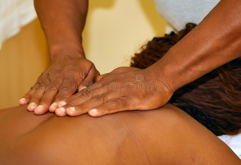 Massage stock fotografie