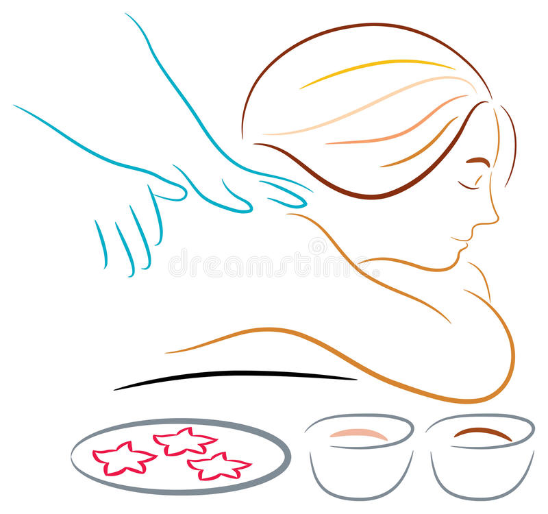massage stock illustrationer