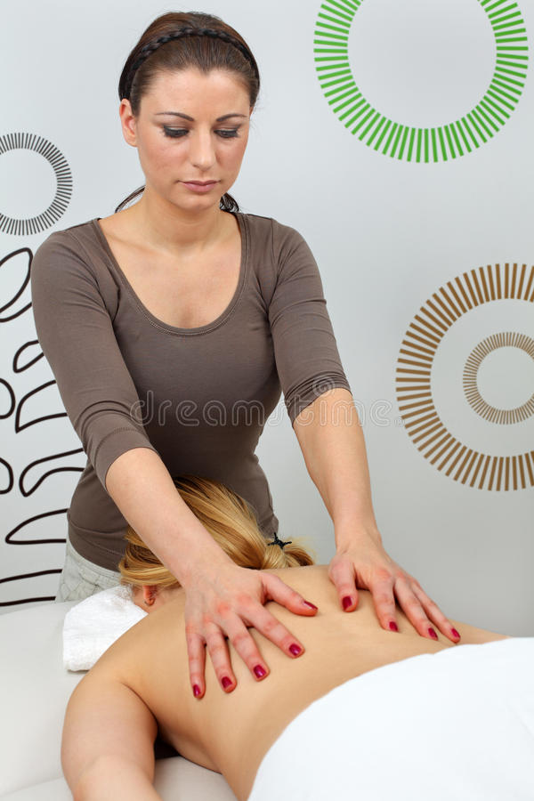 massage arkivbild