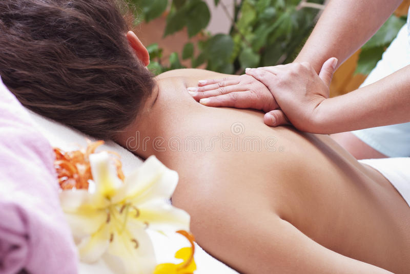 Massage photos libres de droits