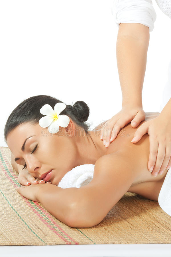 On massage stock image