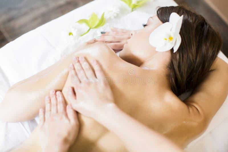 massage stock afbeelding