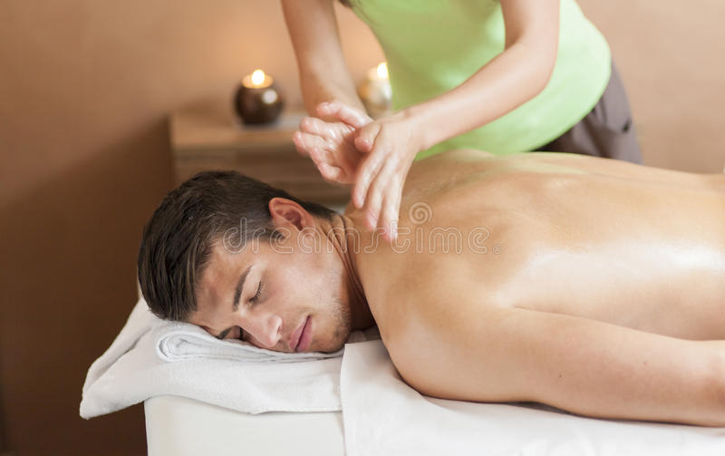 massage stock foto's