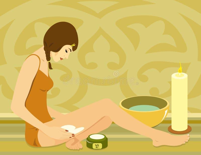 Massage illustration de vecteur