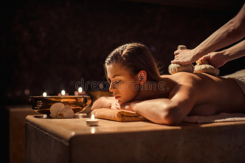 massage photographie stock libre de droits