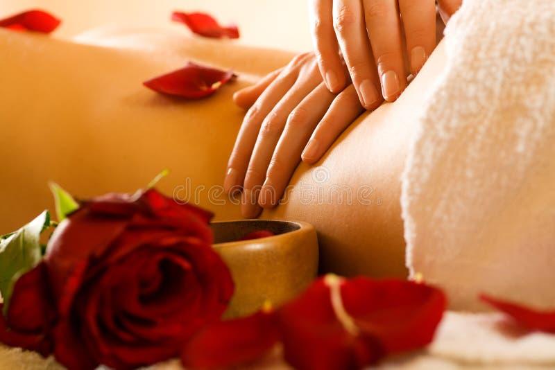 Massage arrière image libre de droits