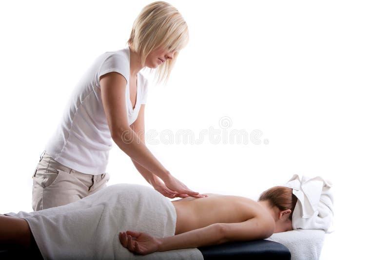 Massage arrière photographie stock libre de droits