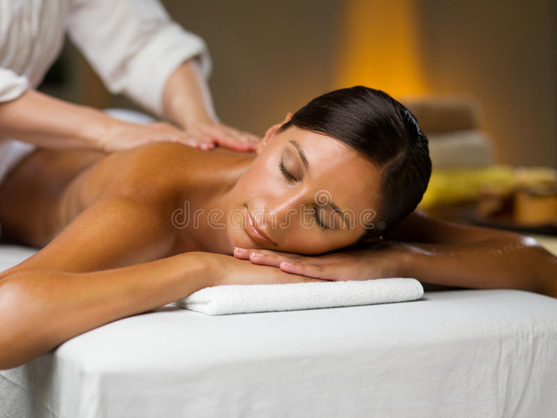 Massage on the back royalty free stock image