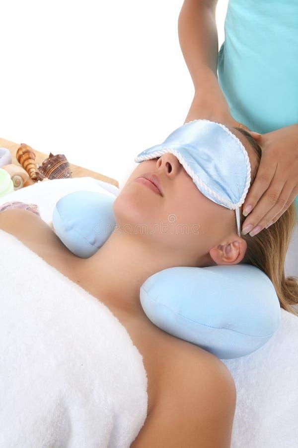 Massage bij Kuuroord stock afbeeldingen