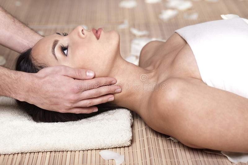 Massage, Blume, Badekurortgele stockfotografie