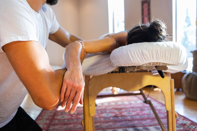 Woman who gives massages professionally