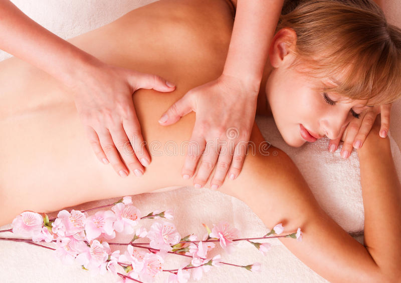 Download Massage Body Women Relax In Spa Stock Image - Image: 27096457