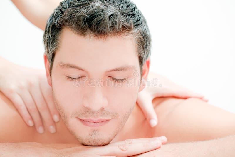 Massage d'homme photographie stock libre de droits