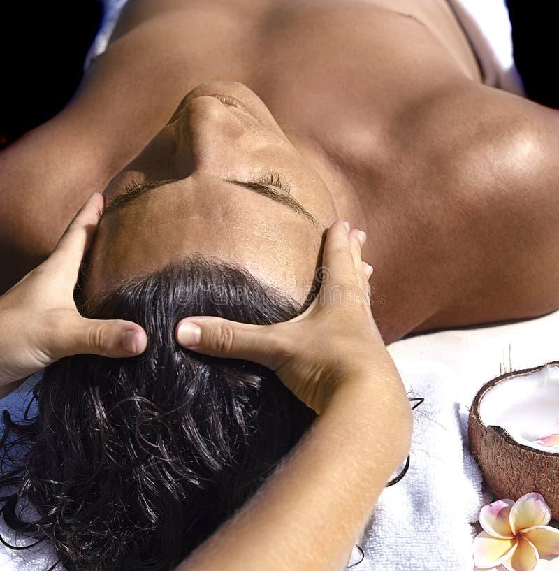 Massage d'homme photo libre de droits