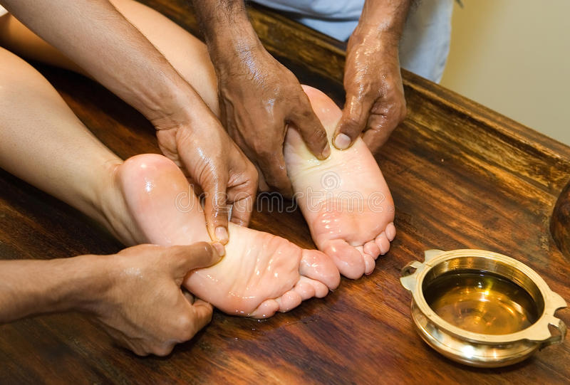massage d'Indien de pied photo stock