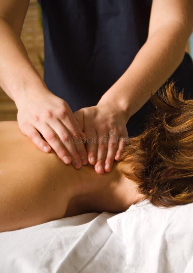 Massage de cou photographie stock