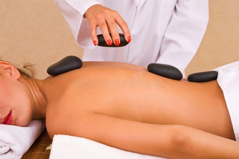 Massage de Lastone image libre de droits