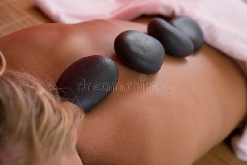 Massage de Lastone images stock