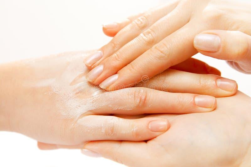 Massage de main photo stock
