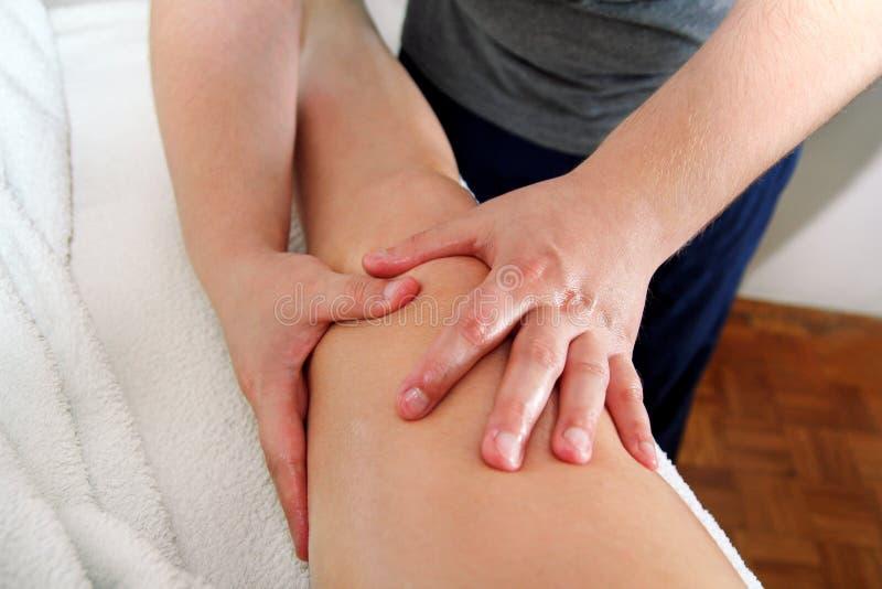 Massage de patte image libre de droits