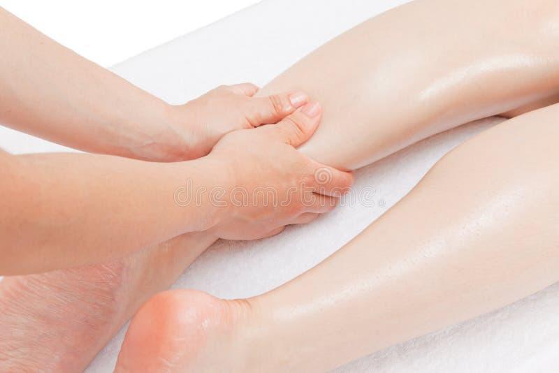 Massage de pied image stock
