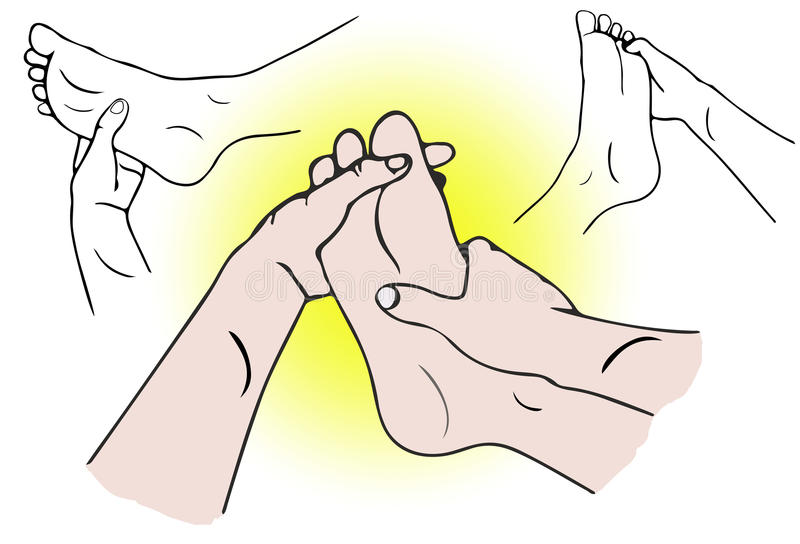 Massage de pied de station thermale illustration stock