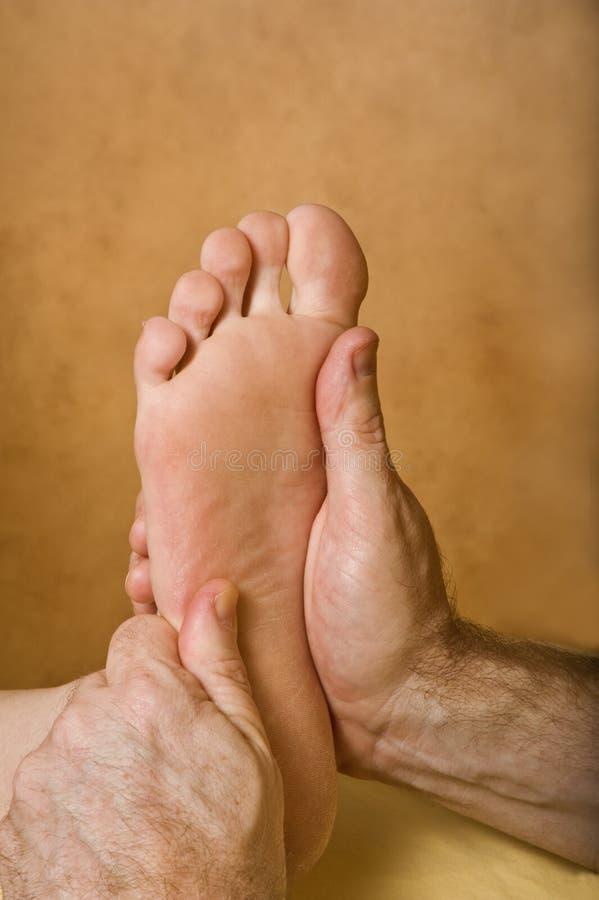 Massage de Reflexology de station thermale image libre de droits