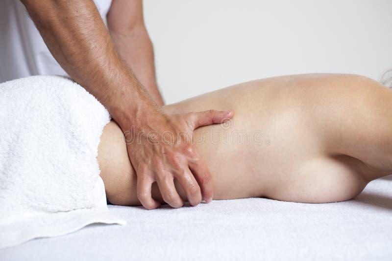 Massage de rein images stock