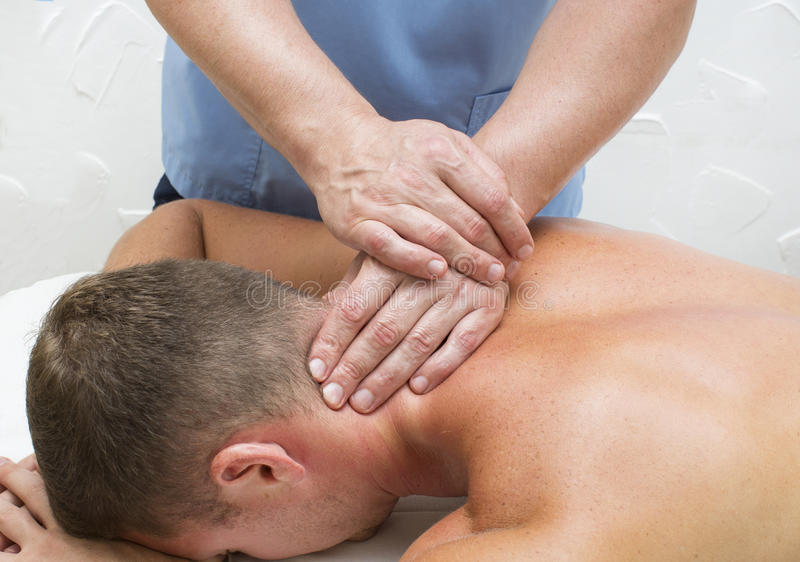 Massage de sports image libre de droits